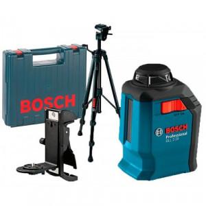 Лазерный нивелир Bosch GLL 2-20 + штатив BT 150 + держатель BM3 + чемодан