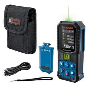 Лазерный дальномер Bosch Professional GLM 50-27 CG с акб BA 3.7V 1.0Ah A и кабелем USB-C (0601072U01)