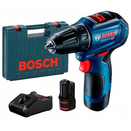 Аккумуляторная бесщеточная дрель-шуруповерт Bosch GSR 12V-30 Professional + 2 акб GBA 12 В / 2 Ач + з/у GAL 12V-40 + чемодан (06019G9000) во Львове