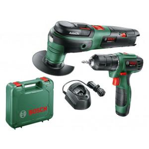 Аккумуляторный шуруповерт Bosch EasyDrill 1200 (06039A210A) + Аккумуляторный универсальный резак Bosch UniversalMulti 12 (0603103020)
