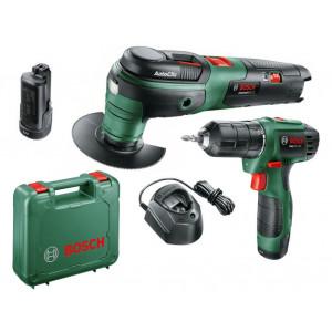 Аккумуляторный шуруповерт Bosch EasyDrill 1200 (06039A210B) + Аккумуляторный универсальный резак Bosch UniversalMulti 12 (0603103020)