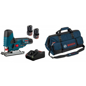 Аккумуляторный лобзик Bosch GST 12V-70 + аккумулятор GBA 12V 2.0Ah - 2 шт + ЗУ GAL 12V-40 + Сумка (0615990M40)