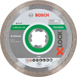 Алмазный диск Bosch X-Lock Standard for Ceramic 125x22,23x1,6x7 мм (2608615138)